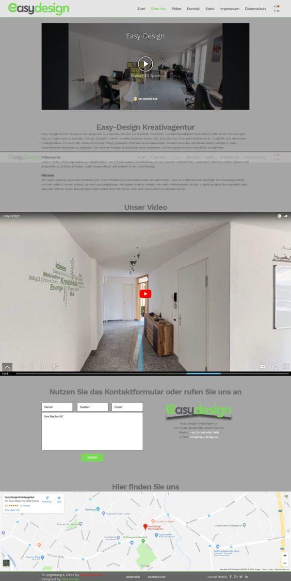Webdesign Aachen - Landing Page